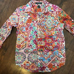 LRL Button Up Long Sleeve 100% Cotton